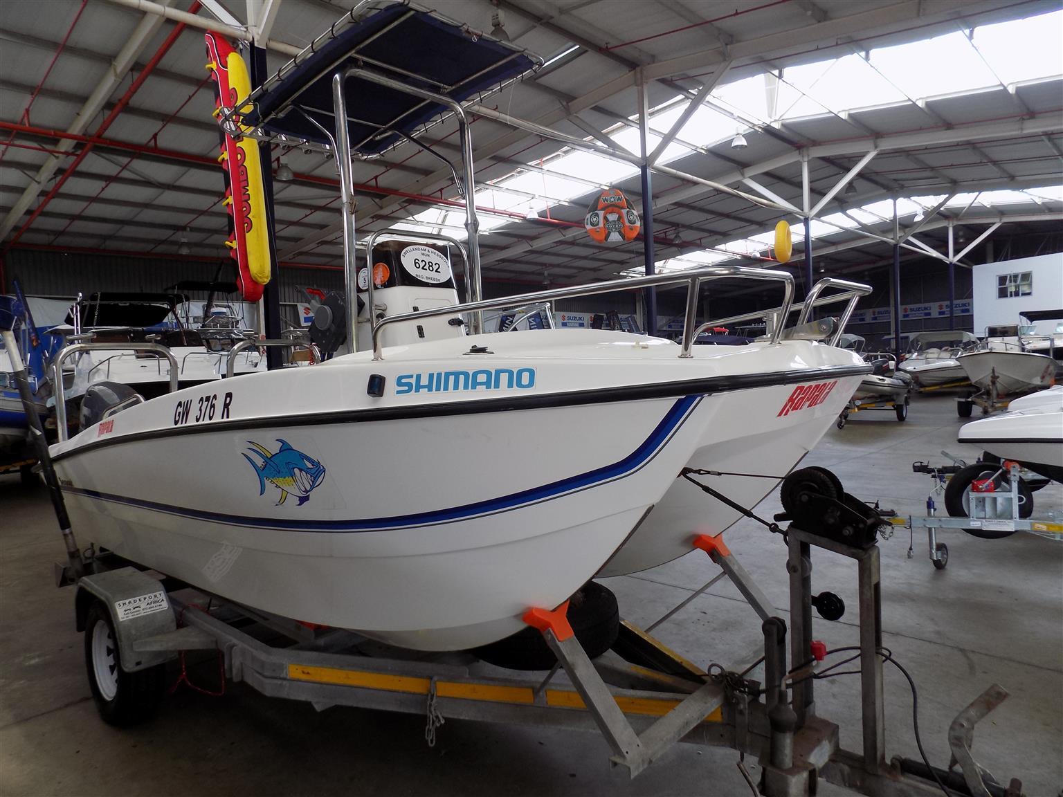 seacat 465 on trailer 2 x 40 hp yamaha 4 strokes