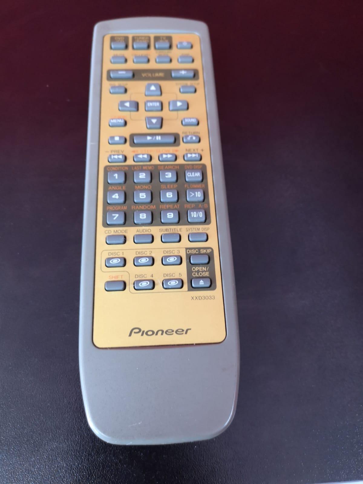 Pioneer XXD3033 Remote