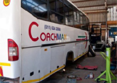 Chanson Repairs Midrand, mainly repairs coaches and buses for customers