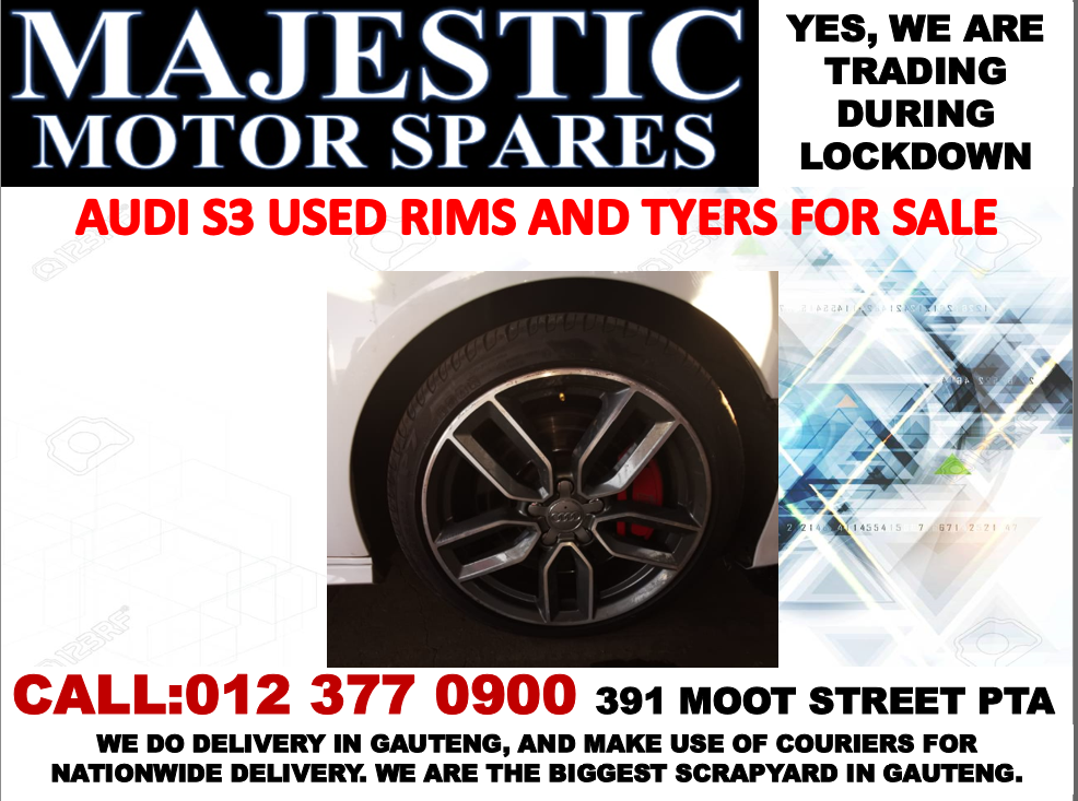 Audi S3 2.0 turbo rims and tyres for sale used