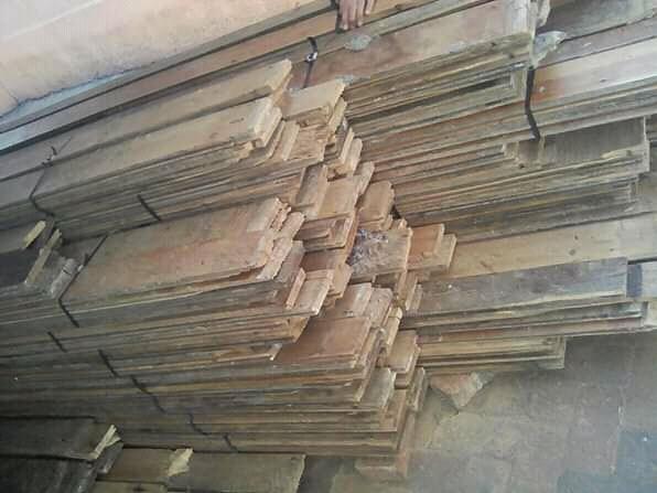 110mm wide reclaimed Oregon pine flooring planks for sale