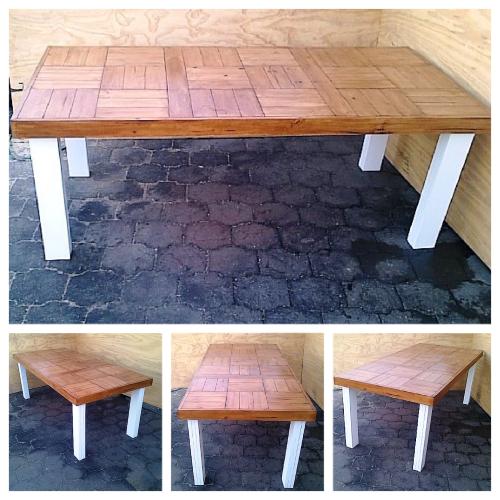 Patio table Farmhouse series 2100 Two Tone