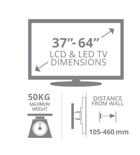 "Modern Living! 37""-64"" Full Motion Plasma, LCD and LED Wall Mount (brand new boxed!)"