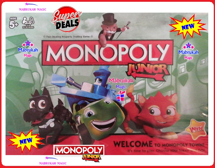 ***LEGENDARY MONOPOLY JUNIOR***HOURS OF FUN***INTERACTIVE PLAY***1 UNIT AVAILABLE***