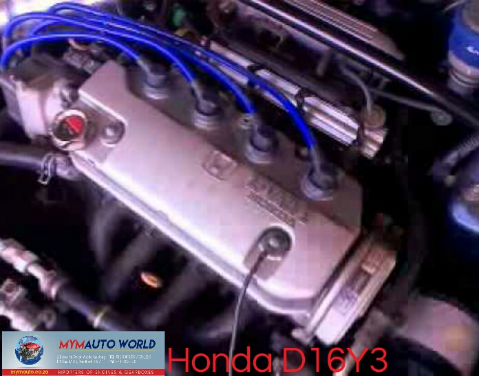 Imported used Honda Intergra/civic/HR-V 1.6L, D16Y3, Complete second hand used engines,