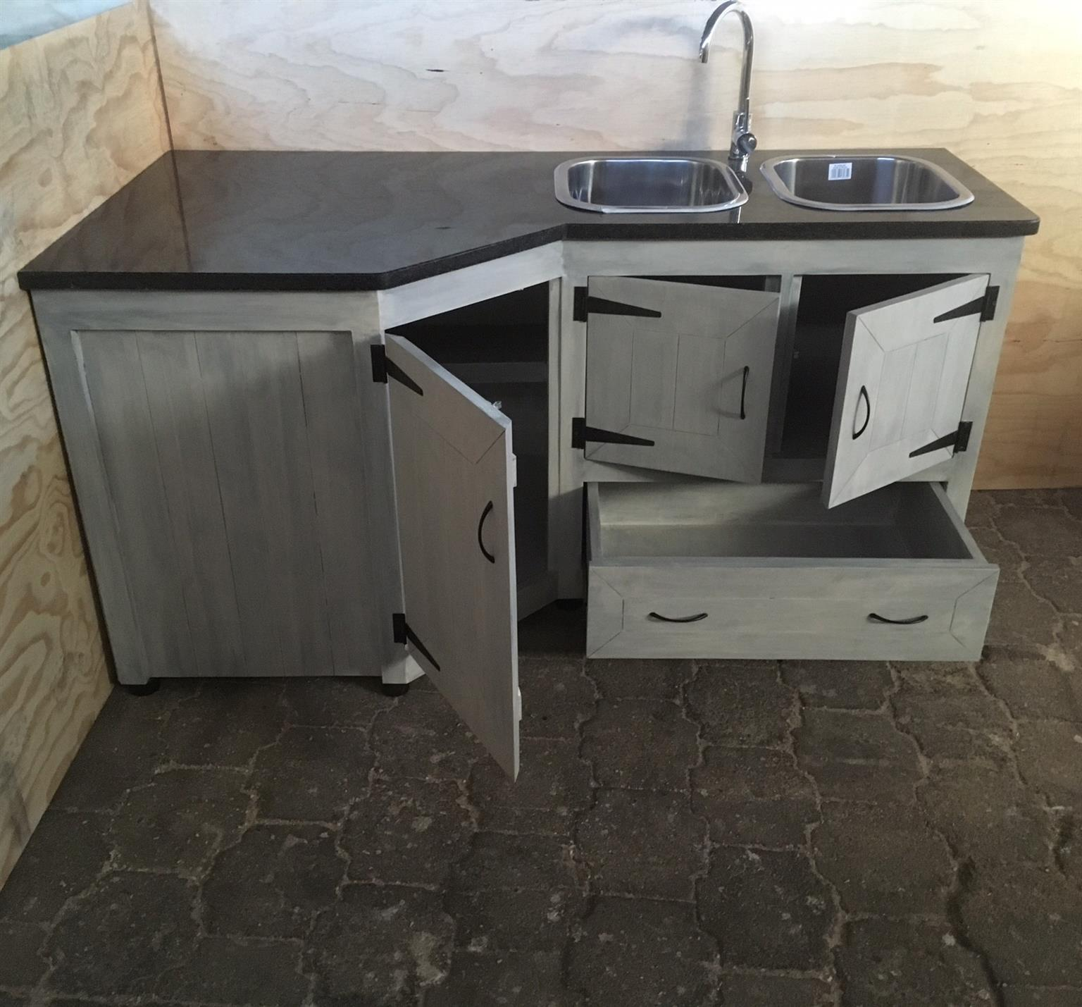 Kitchen Sink Units South Africa: Kitchen Cupboard Scullery Unit Farmhouse Series 1800 L