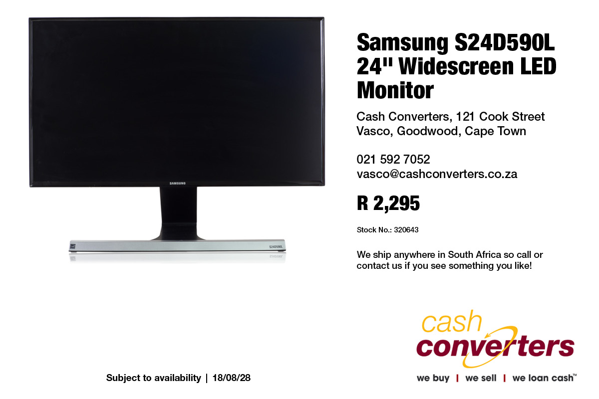 """Samsung S24D590L 24"""" Widescreen LED Monitor"""
