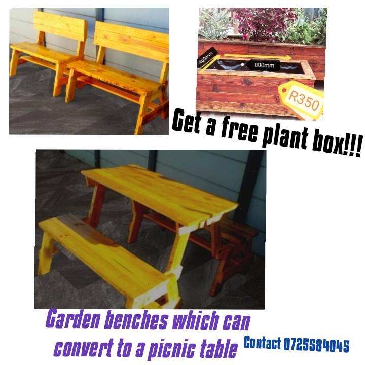 Free plant box!! Garden bench /table