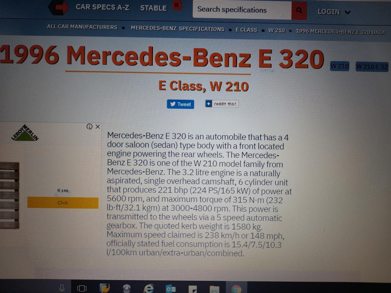 1996 Mercedes Benz E-Class sedan E 350d AMG