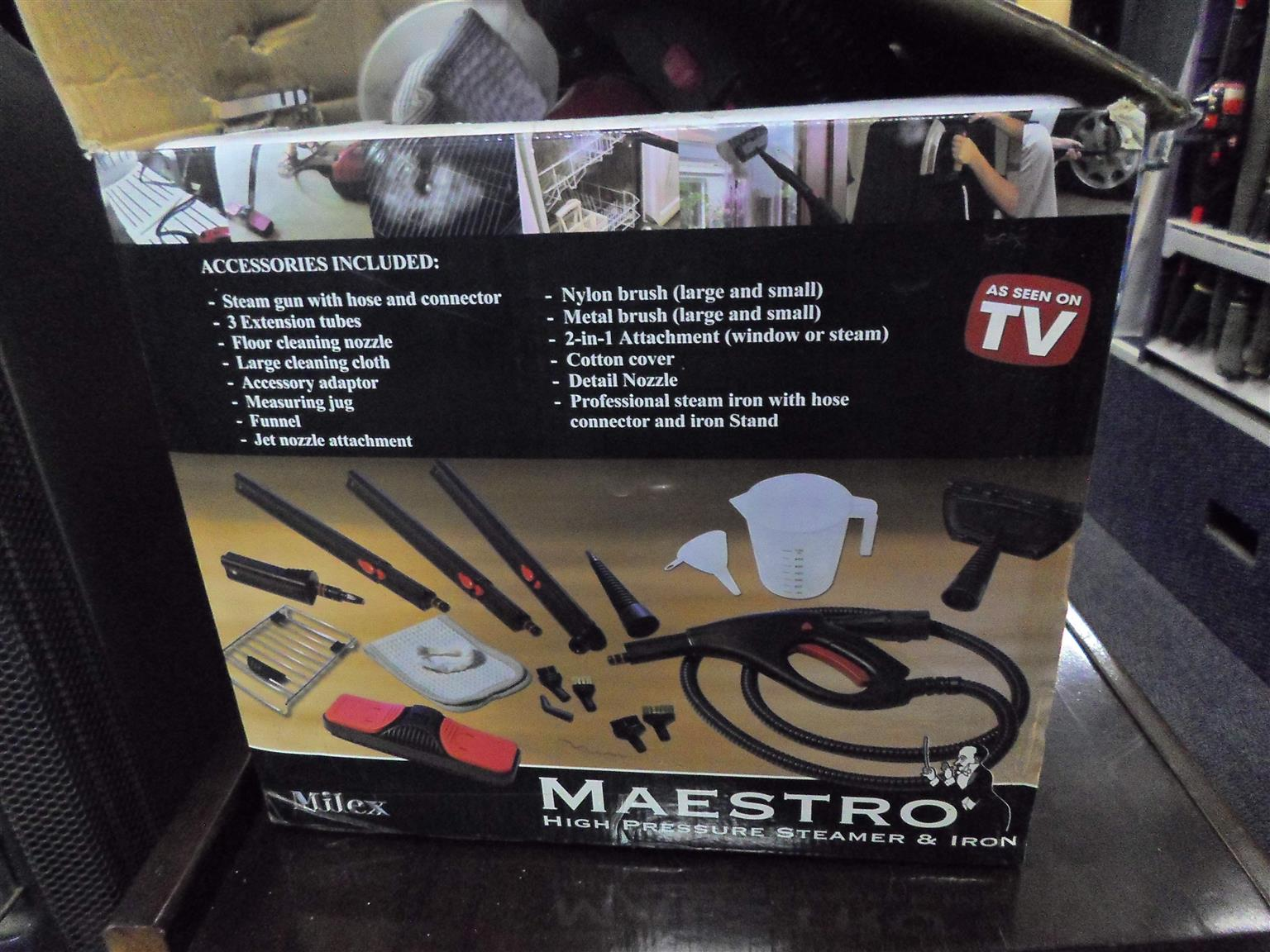 Maestro Steam Cleaner and Iron