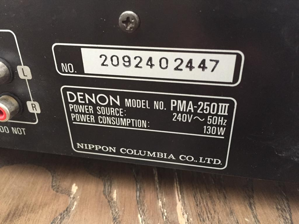 Denon PMA-250III Stereo Integrated Amplifier - has just been serviced and tested!