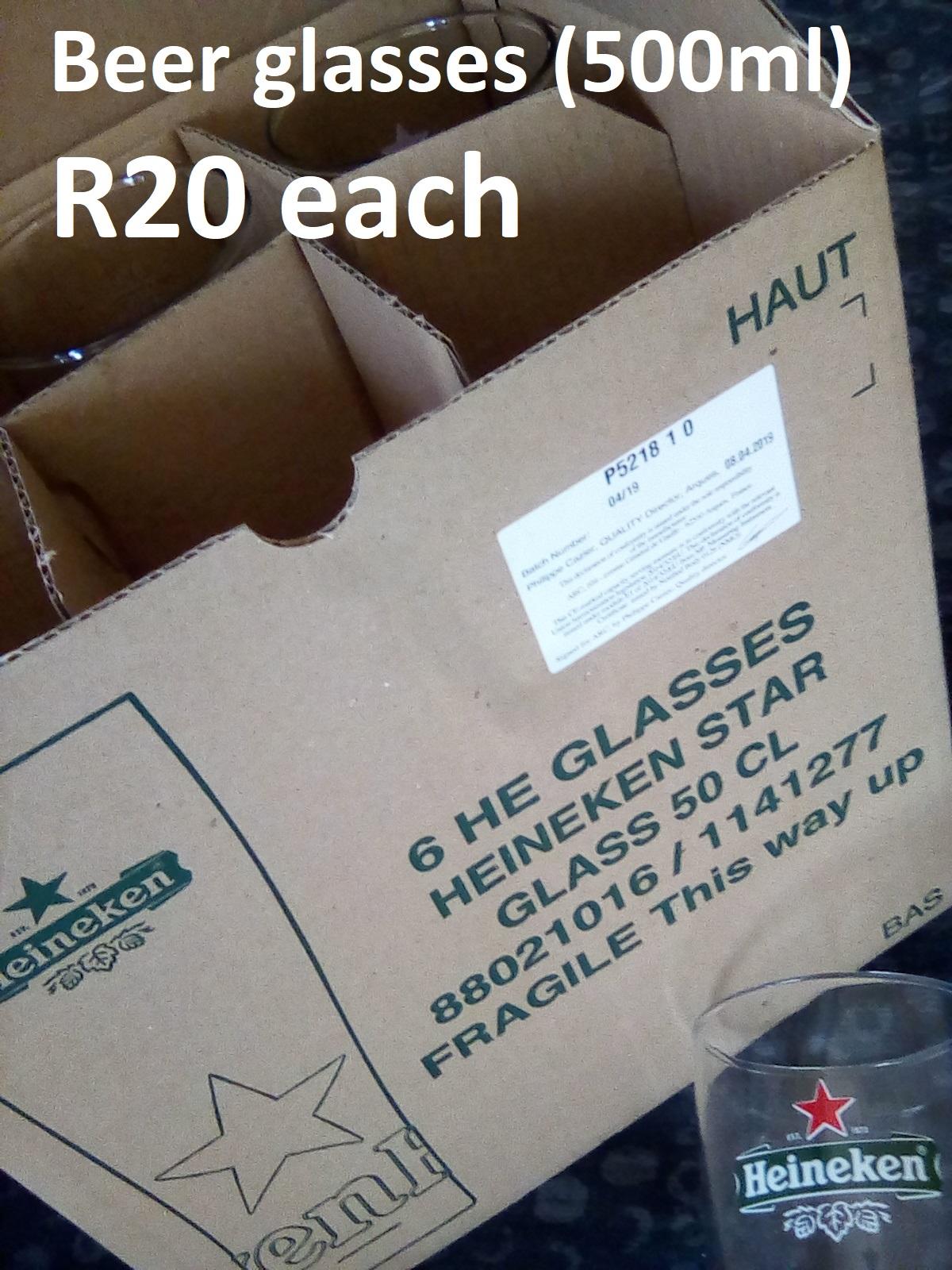 Beer Glasses (brand new) (500ml)