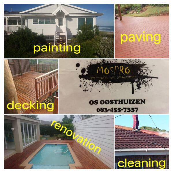 Decks , Paving and Painting of houses