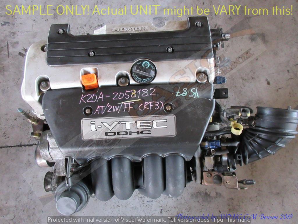 HONDA K20A 2.0L i-VTEC DOHC 16V Plastic Intake Engine -STREAM