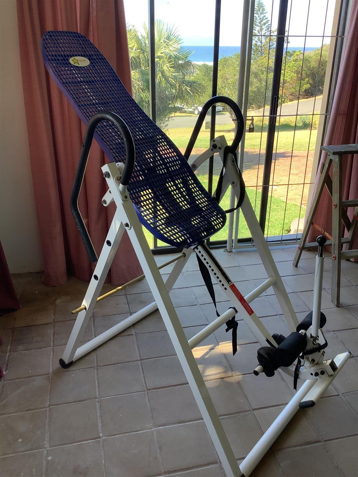 Inversion table for sale in good condition. For treatment of backache etc