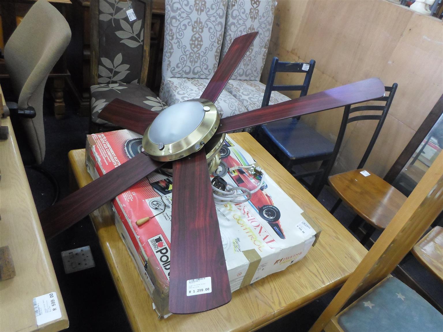 Wooden Blades Ceiling Fan