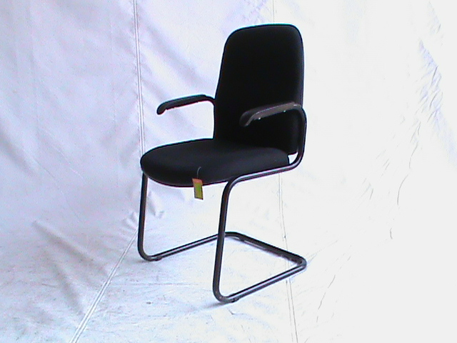 Black visitor chair fabric