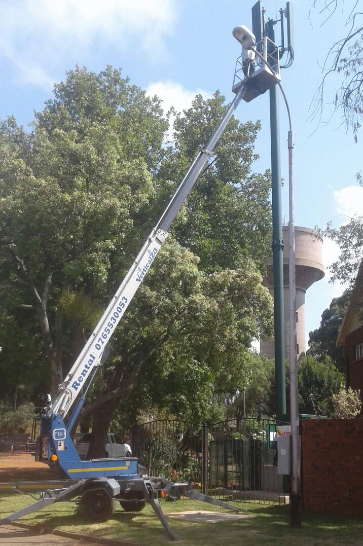 VerticalZA Cherry Picker Dino 180T - 18m, PORTABLE TRAILER-MOUNTED Electrical Manlift