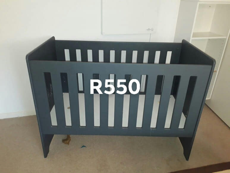 Dark green cot for sale