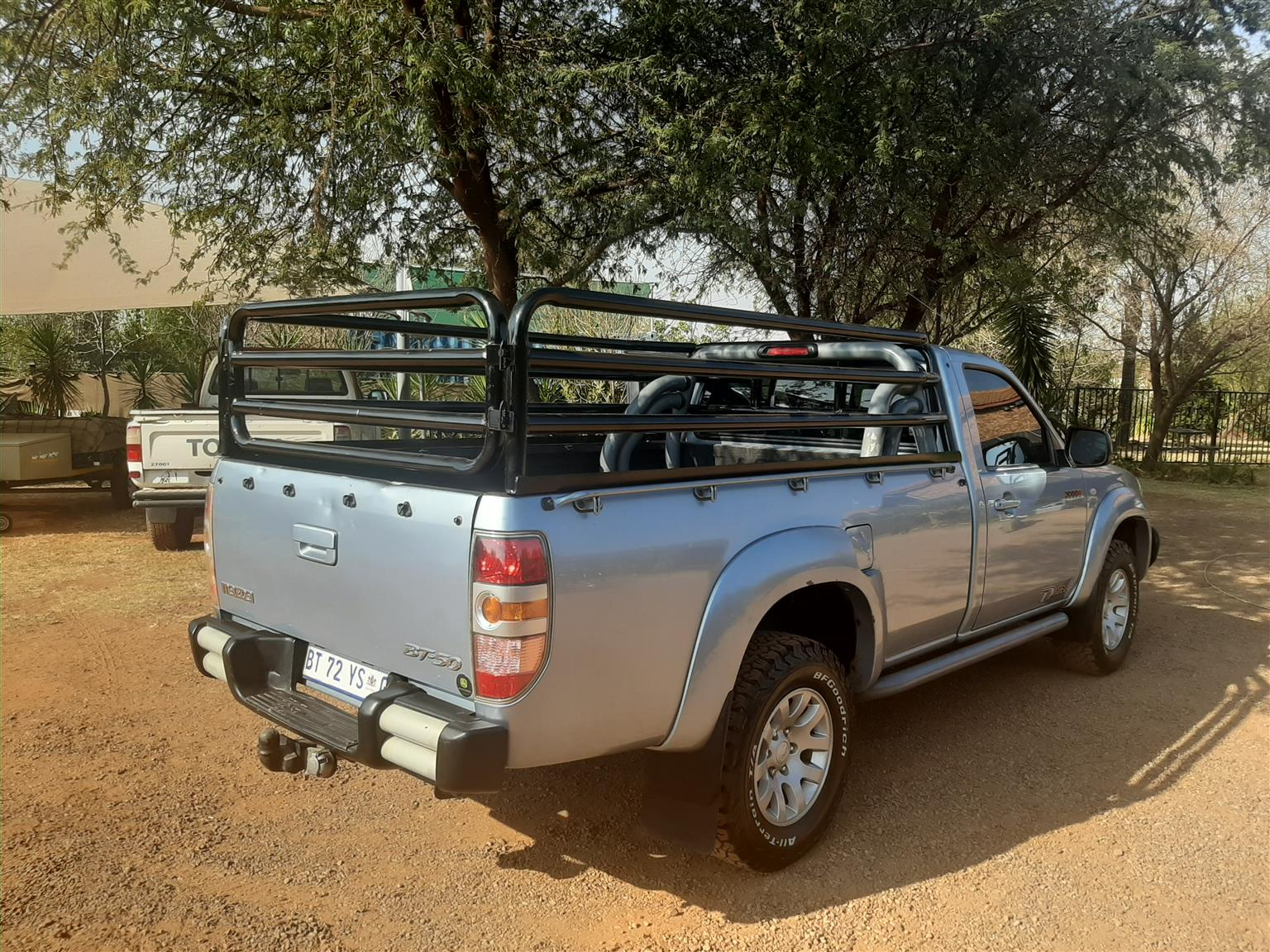 Mazda BT50 CATTLE RAILS AND CANVAS CANOPY