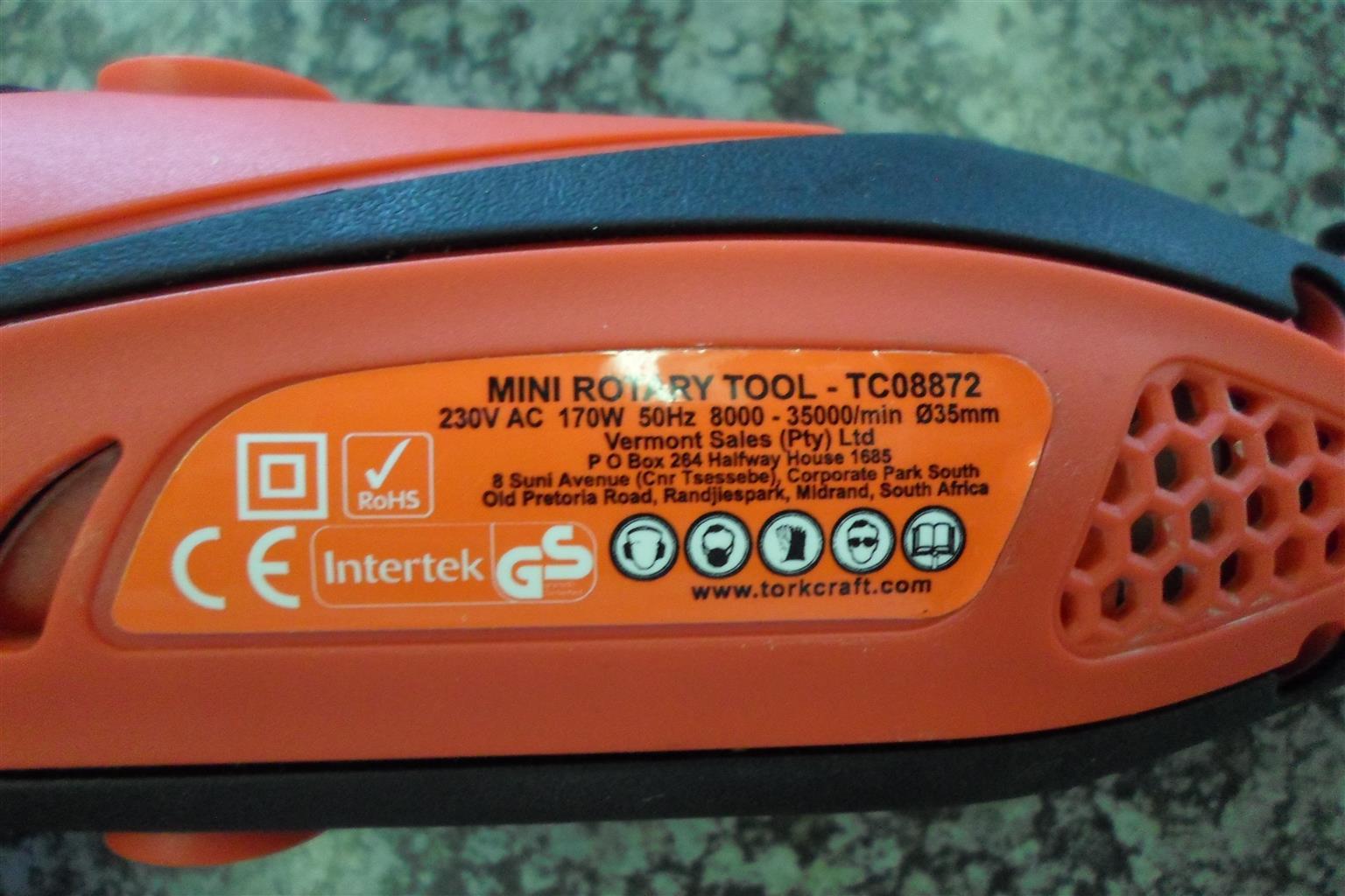 170W Tork Craft Mini Rotary Tool