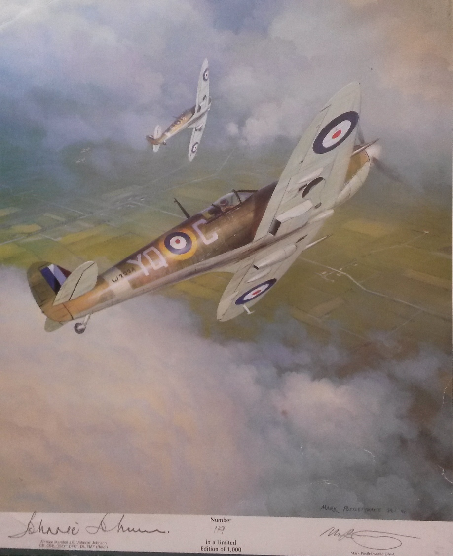 PICTURE OF SPITFIRE, ANTIQUE