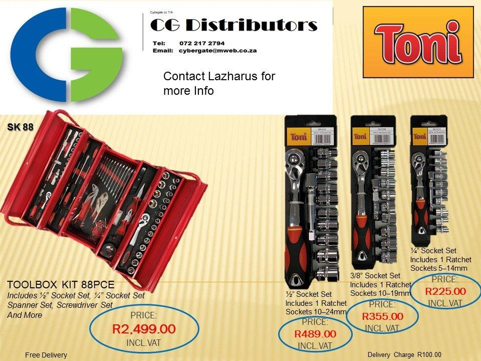 Tool box kits and socket sets for sale