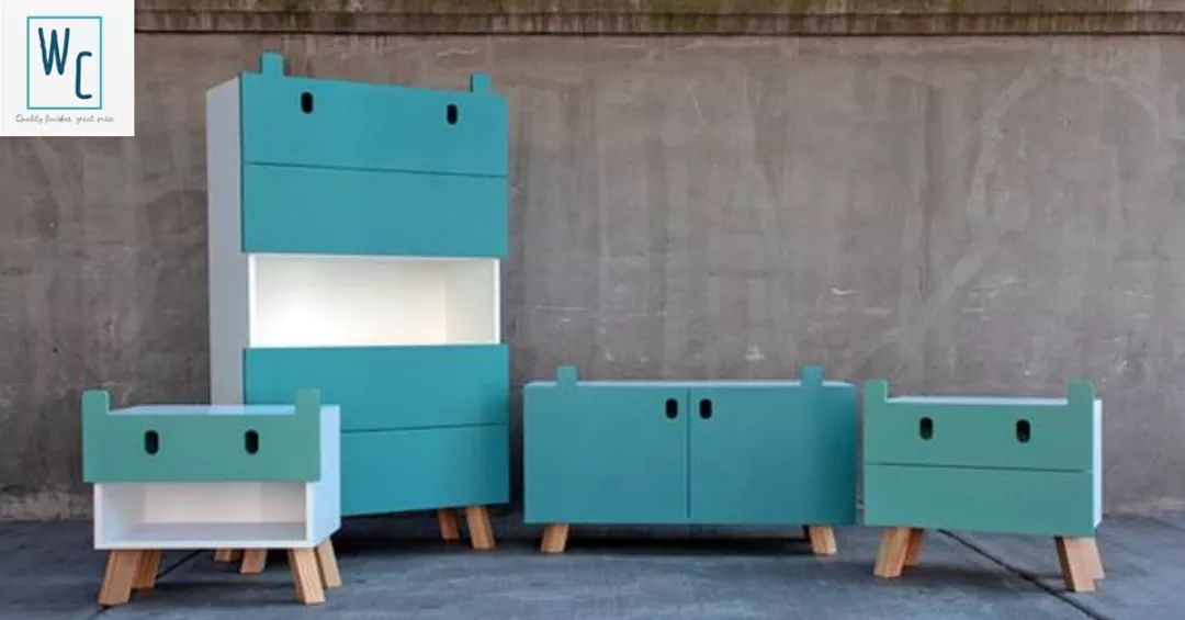 Childrens bookcases, pedestals and chest of drawers