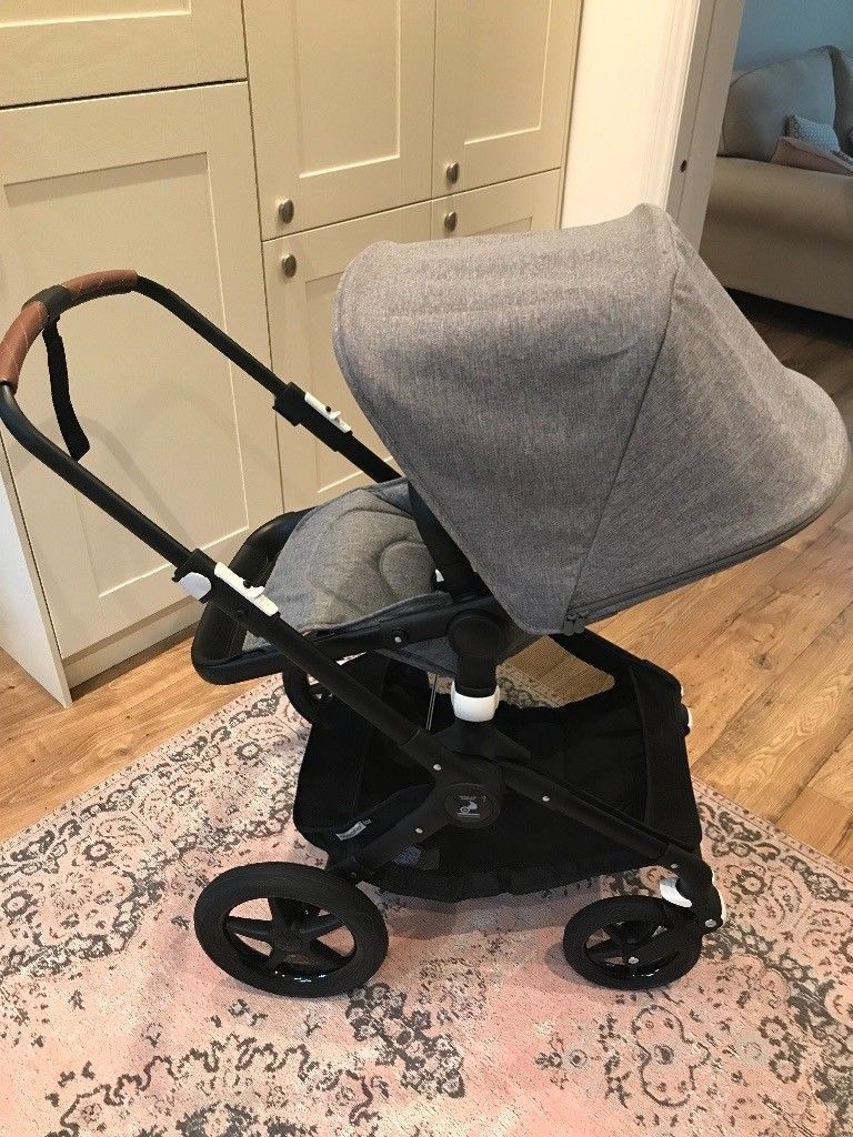 Bugaboo Fox Pushchair Grey Melange With Black Chassis