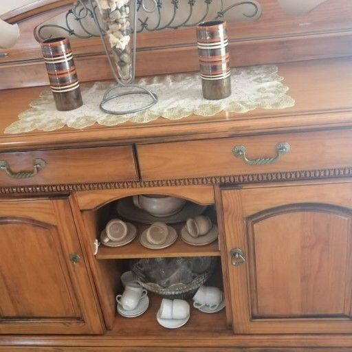 6 seater dining set & console table for sale