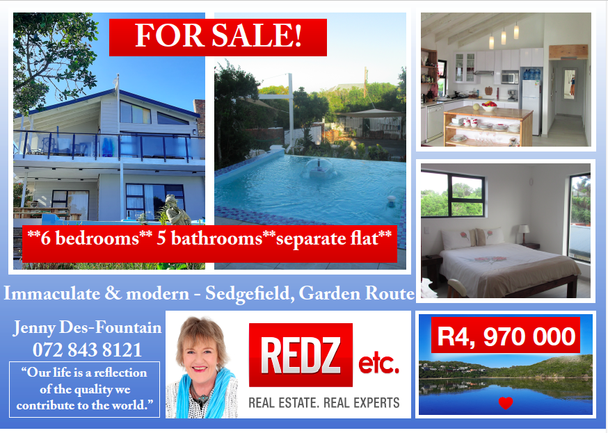 * Absolutely Exquisite * Modern 6 bedroom home with cottage * Lagoon & Sea Views *