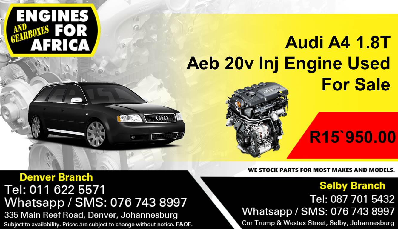 Audi A4 1 8T Aeb 20v Inj Engine Used For Sale