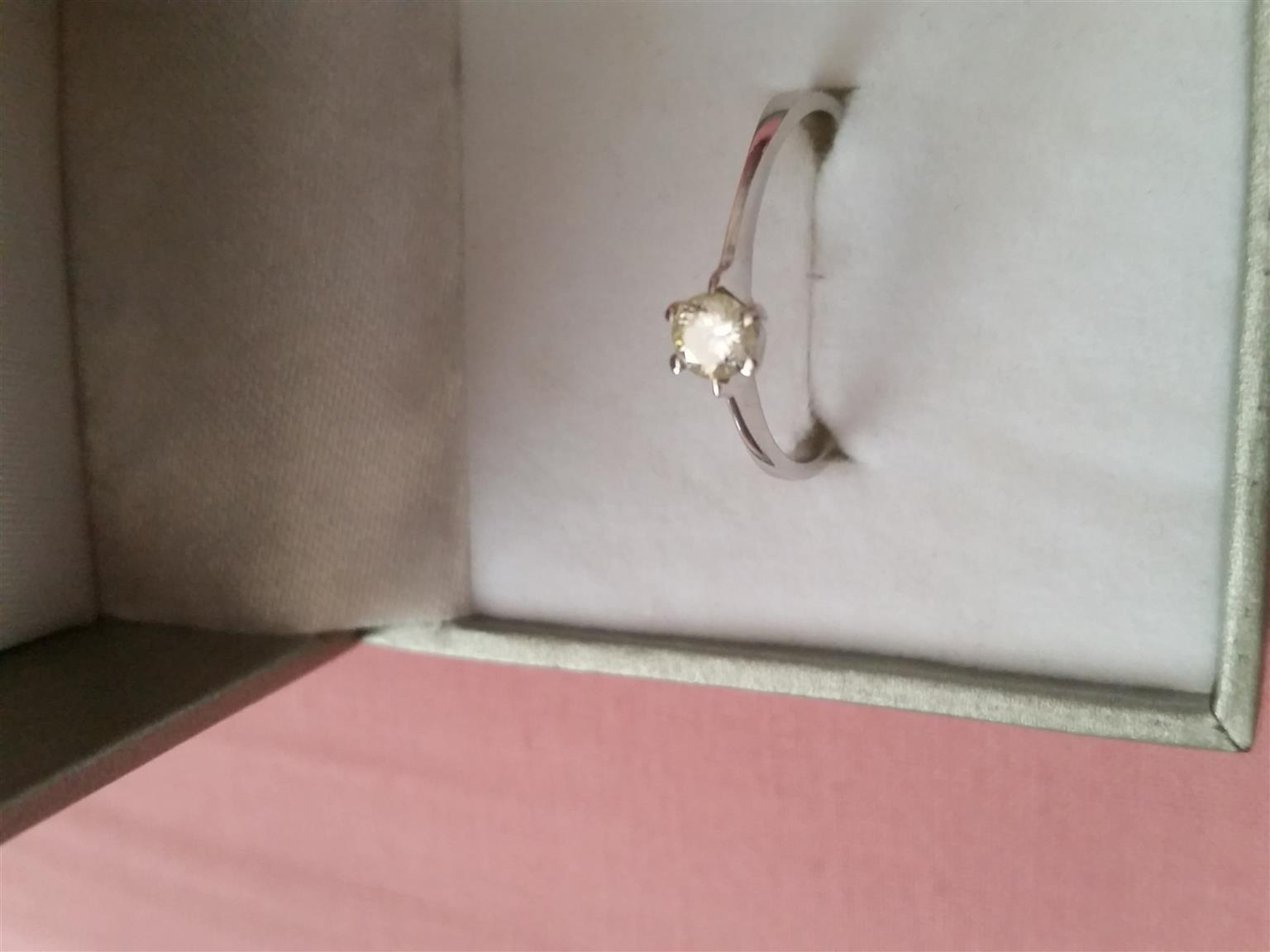 Solitaire diamond ring!