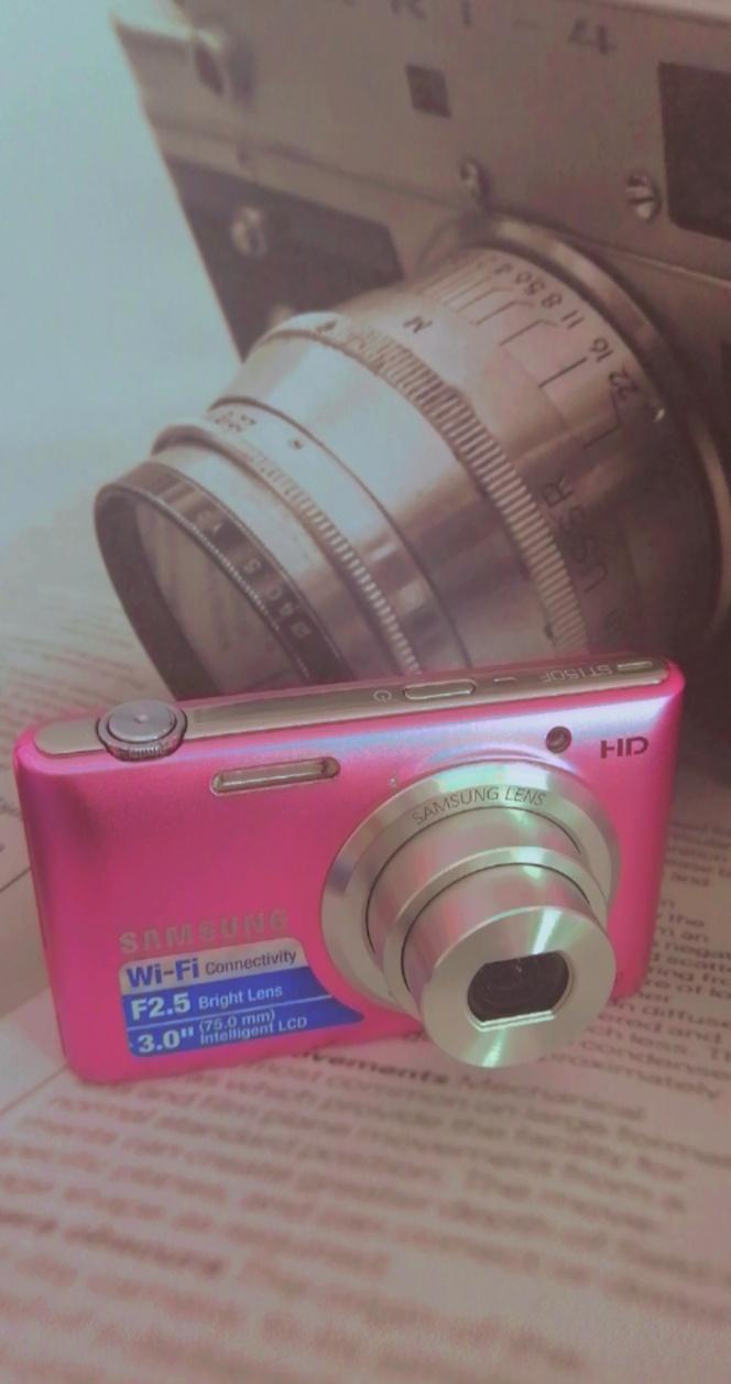 Capture memories...,in pink.