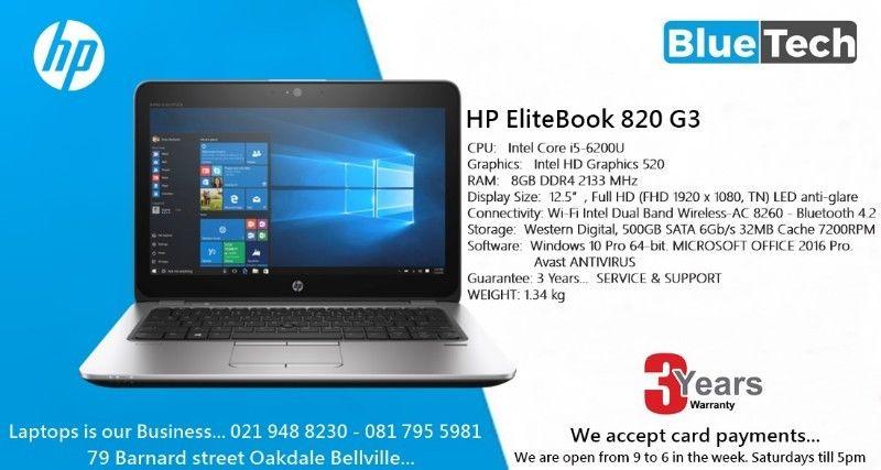 HP EliteBook 820 G3 Ultrabook - 12 5-inch - Core i5 6th gen - 8GB DDR4 Ram  3 Year Guarantee | Junk Mail