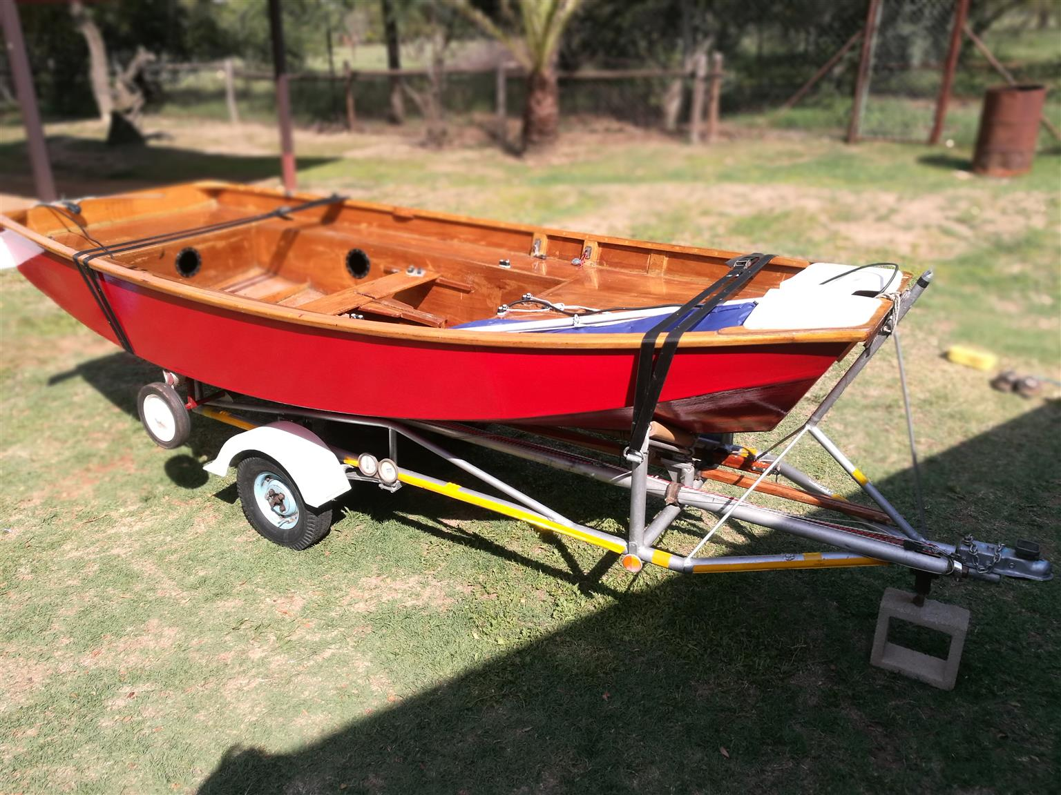 Licenced Mirror Dinghy Trailer with Spare Wheel