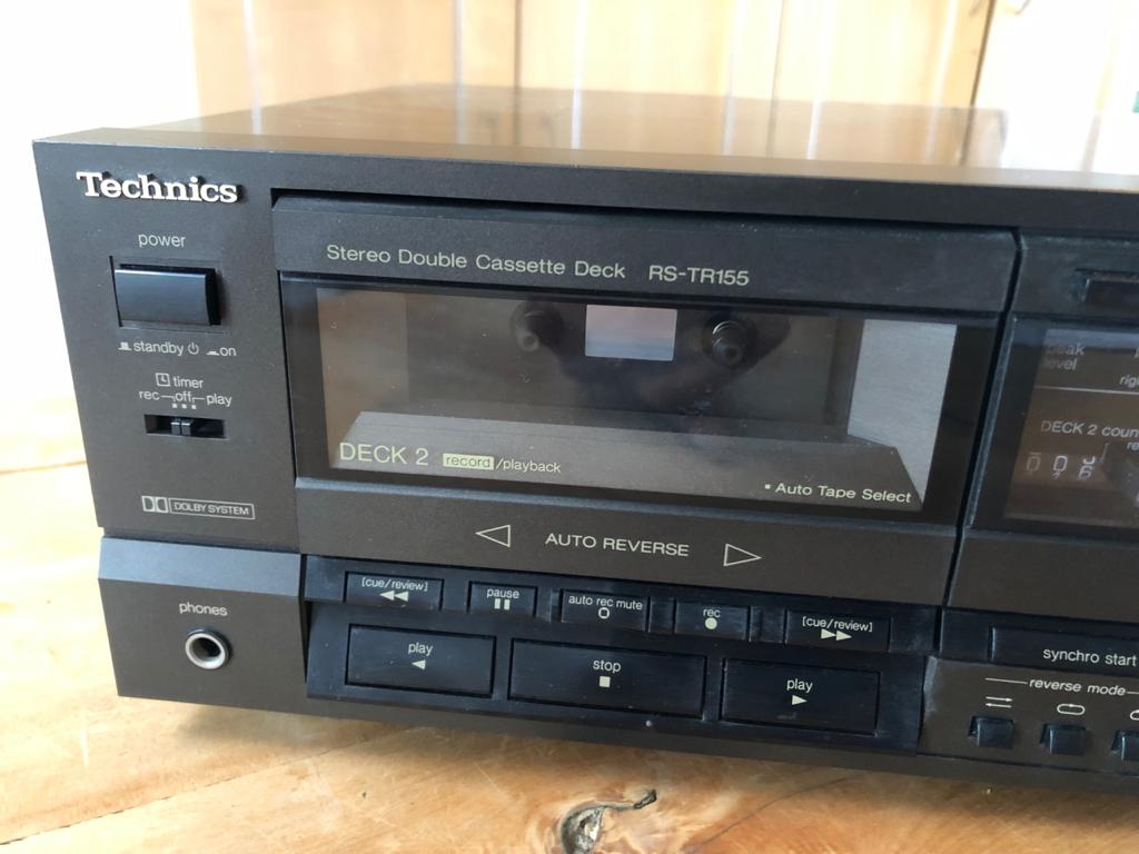 Technics RS-TR155 Stereo Double Cassette Deck-in full working condition