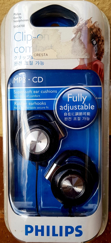 Philips Earclip Headphones - Super Comfort