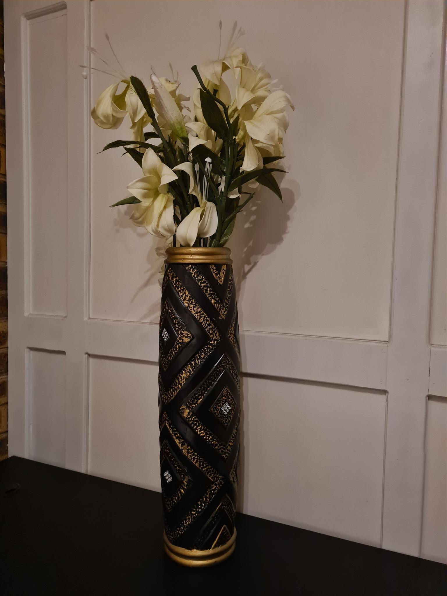 Floor/Table Ceramic Tall Vase
