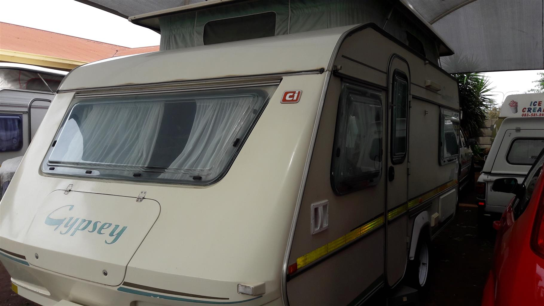 GYPSEY CARAVETTE 6 WITH FULL TENT IN EXCELLENT CONDITION MUST BE SEEN