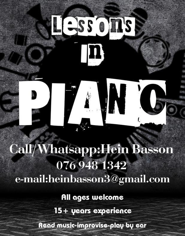 Piano lessons-East Rand