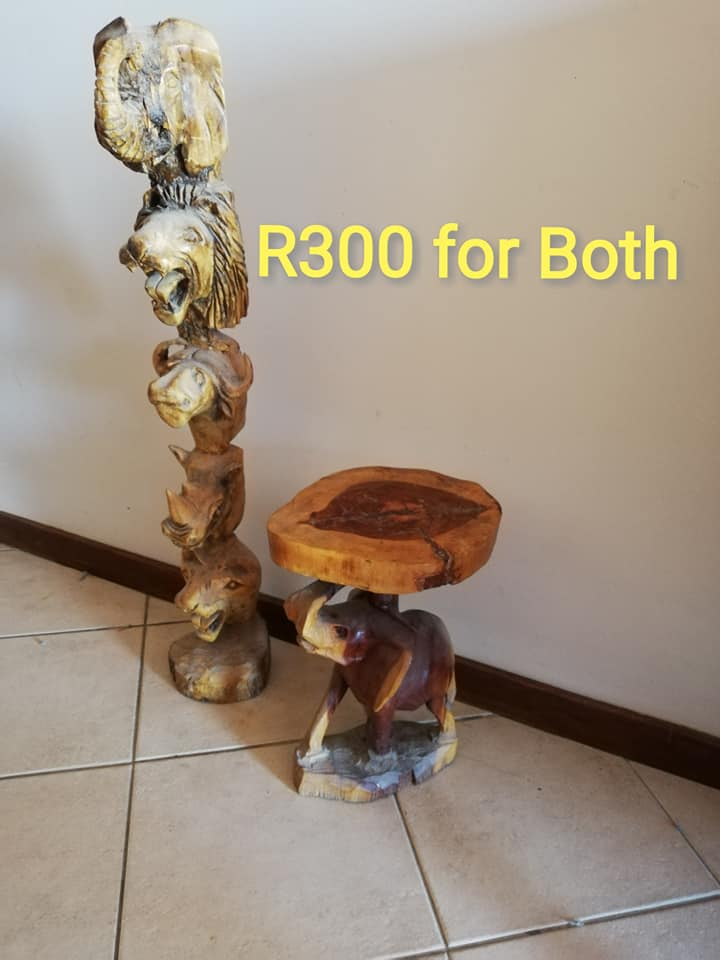 2 Wooden ornaments for sale