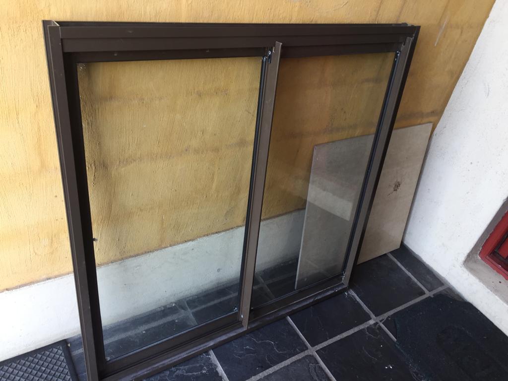 Double Aluminium Manufacturers Mail: Aluminium Window With Double Sliding Doors 100x100cm
