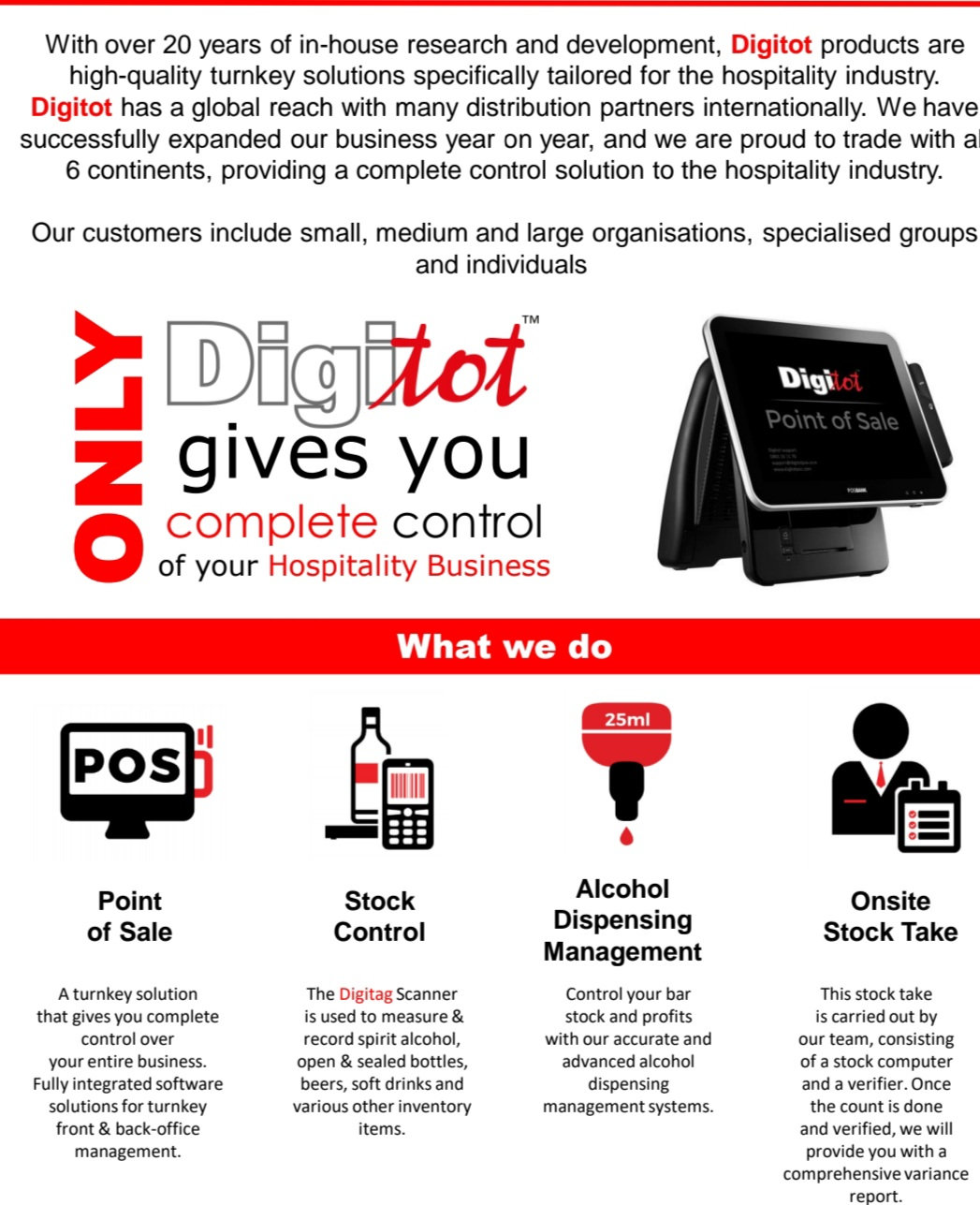 Point of sale software, Digitot Inventory Control Software