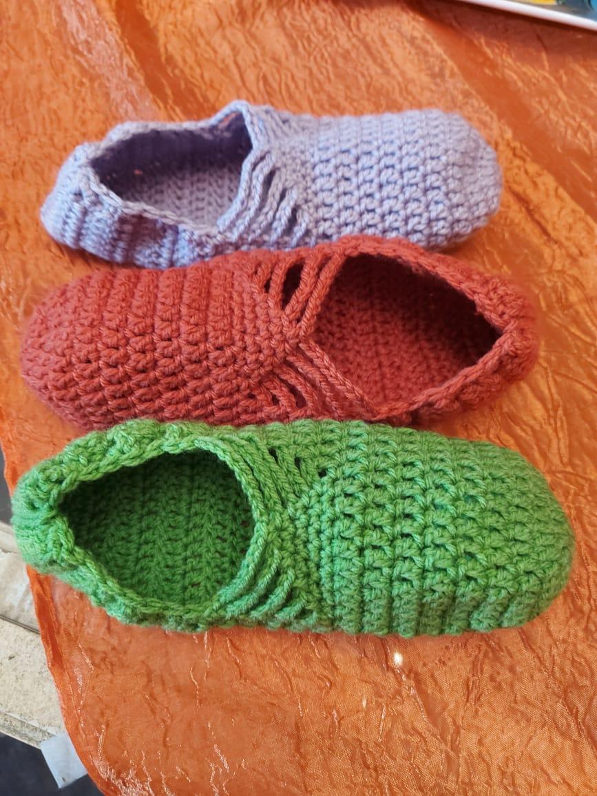 HANDMADE : Crochet slippers