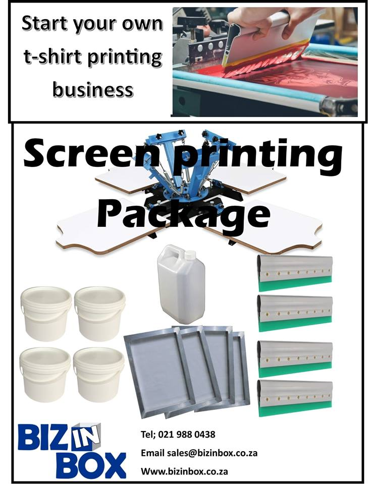t-shirt silk Screen printing package