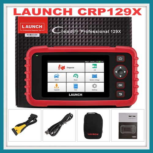 LAUNCH CRP129X OBD2 Scan Tool, 4 System Diagnoses with Oil Reset, EPB/SAS/TPMS and Throttle Service