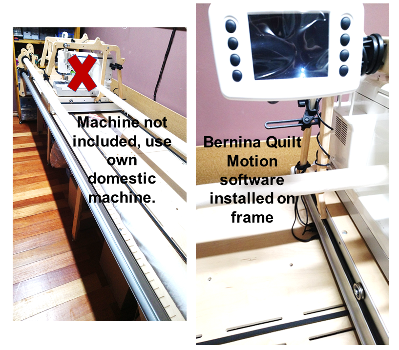 Mid arm quilting frame with machine and Bernina Quilt Motion ...