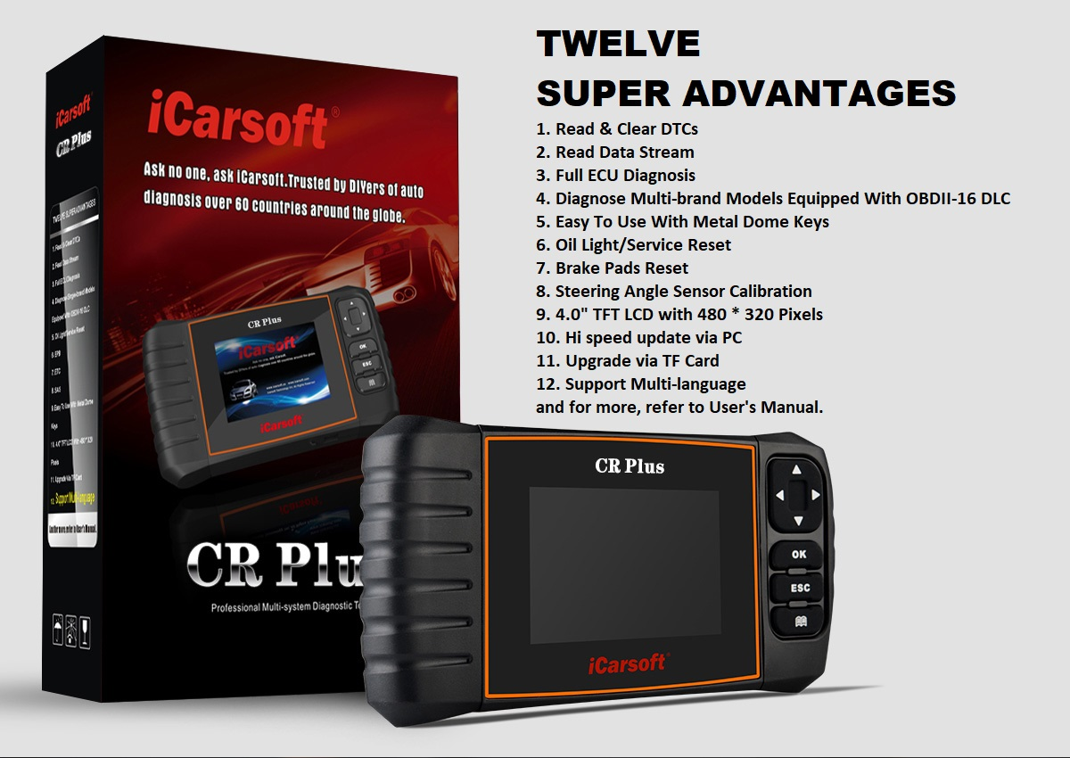 new ICARSOFT CR PLUS PROFESSIONAL DIAGNOSTIC TOOL