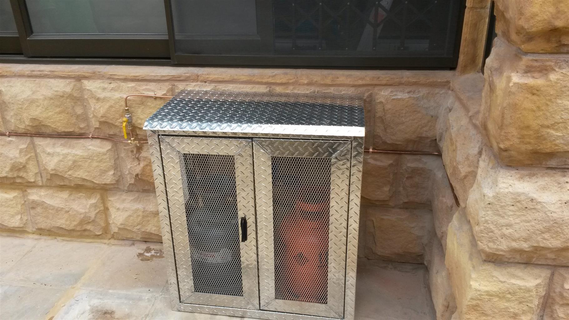 Alumnium gas cage 2 x 9kg